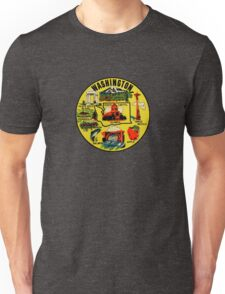 Washington State Landmarks Vintage Travel Decal Unisex T-Shirt