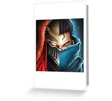 Zed & Yasuo Pixelart Greeting Card
