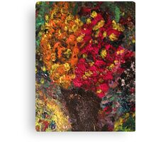 Two Tone Flower Abstraction Canvas Print