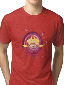 Shiny happy Jirachi laughing Tri-blend T-Shirt