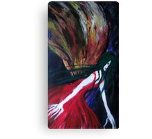 MothLady Reaching for Rose Canvas Print