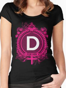FOR HER - D Women's Fitted Scoop T-Shirt