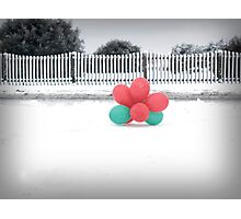 Balloons aren't just for Christmas Photographic Print