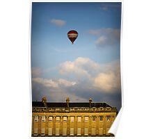 Red balloon over Bath Poster