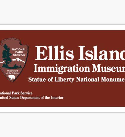 Ellis Island Immigration Museum, Statue of Liberty, NYC Sticker
