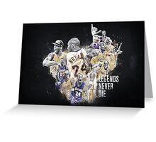 """Kobe Bryant - """"Legends Never Die"""" Greeting Card"""