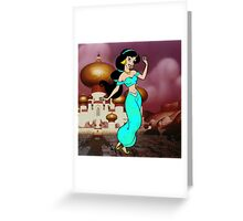 Splattered Jasmine Greeting Card