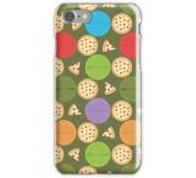TMNT manhole covers and pizza (green) iPhone Case/Skin
