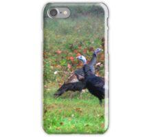 Wild Turkeys Feeding Along The Forest iPhone Case/Skin