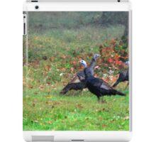 Wild Turkeys Feeding Along The Forest iPad Case/Skin