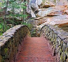Stone Footbridge at Old Man's Cave by Kenneth Keifer