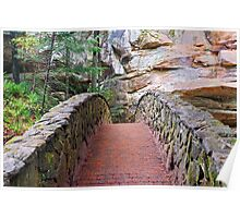 Stone Footbridge at Old Man's Cave Poster