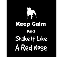 Keep Calm and Shake It Like a Red Nose Photographic Print