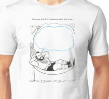What do you think Mr. T is daydreaming about?  Unisex T-Shirt