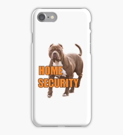 Home security pit bull iPhone Case/Skin