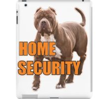 Home security pit bull iPad Case/Skin