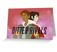 BITTER RIVALS Greeting Card