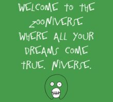 The Mighty Boosh – Welcome to the Zooniverse (White) by PonchTheOwl