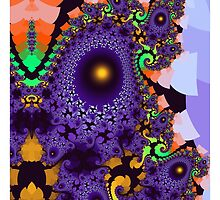 Colourful whimsical shapes and patterns by walstraasart