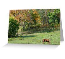 Fall Meadow Greeting Card