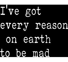 The Beatles Ill cry Instead Mad Crazy Angry Sarcasm Lyrics Text Photographic Print