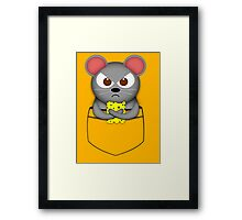 Pocket mouse Framed Print