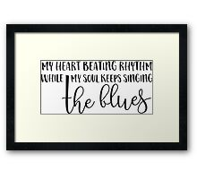 Roll Over Beethoven Classic Rock Music Lyrics Typography Text Framed Print