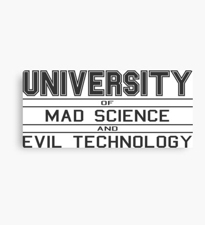 University of Mad Science and Evil Technology Canvas Print