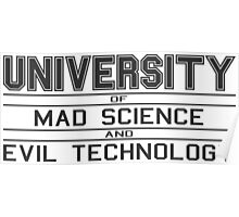 University of Mad Science and Evil Technology Poster