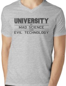 University of Mad Science and Evil Technology Mens V-Neck T-Shirt