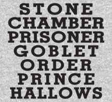 Stone Chamber Prisoner Goblet Order Prince Hallows by Fitspire Apparel