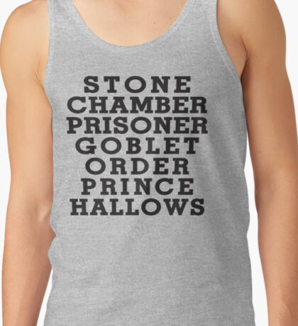Stone Chamber Prisoner Goblet Order Prince Hallows Tank Top