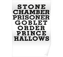 Stone Chamber Prisoner Goblet Order Prince Hallows Poster