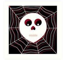 Skull & Webs (Color) Art Print