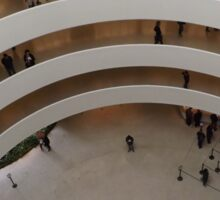 Looking Down at the Guggenheim Museum, Frank Lloyd Wright, Architect, New York City  Sticker