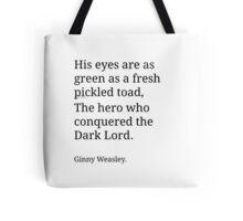 Ginny Weasley Poem Tote Bag