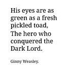 Ginny Weasley Poem by prettymuch