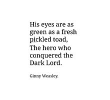 Ginny Weasley Poem Photographic Print