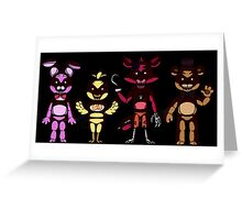 Five Nights at Freddy's Night Version  Greeting Card