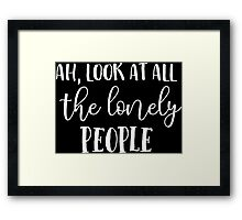 Eleanor Rigby Look At All The Lonely People Beatles Lyrics Text Framed Print