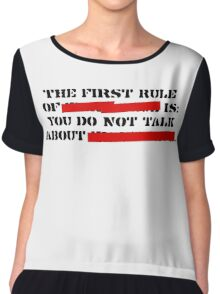 the first rule of fight club Chiffon Top
