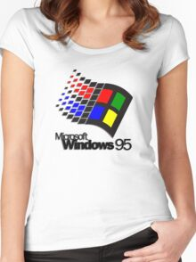 Windows 95 Women's Fitted Scoop T-Shirt