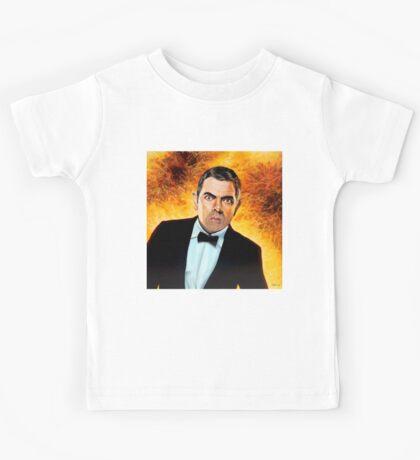 Rowan Atkinson alias Johnny English Painting Kids Tee