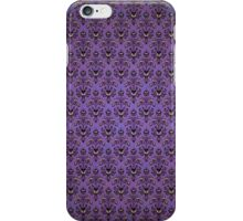 Haunted Mansion Wallpaper Scarf iPhone Case/Skin