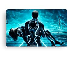 Tron Legacy multi monitor - Artwork Canvas Print