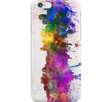 Salt Lake City skyline in watercolor background iPhone Case/Skin