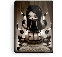 Halloween Doll Metal Print