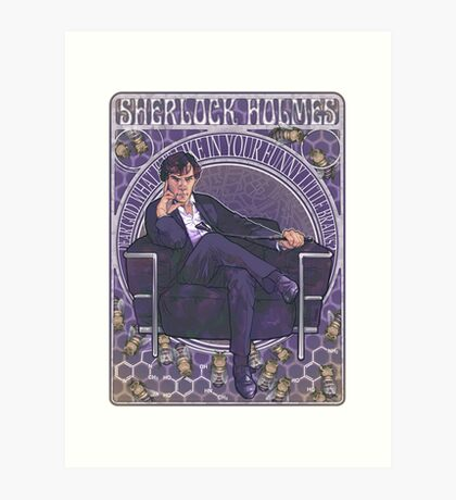 Sherlock Art Nouveau Art Print
