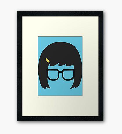 Tina Silhouette Framed Print