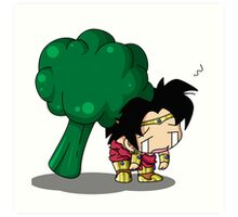 Brolly Broccoli Art Print